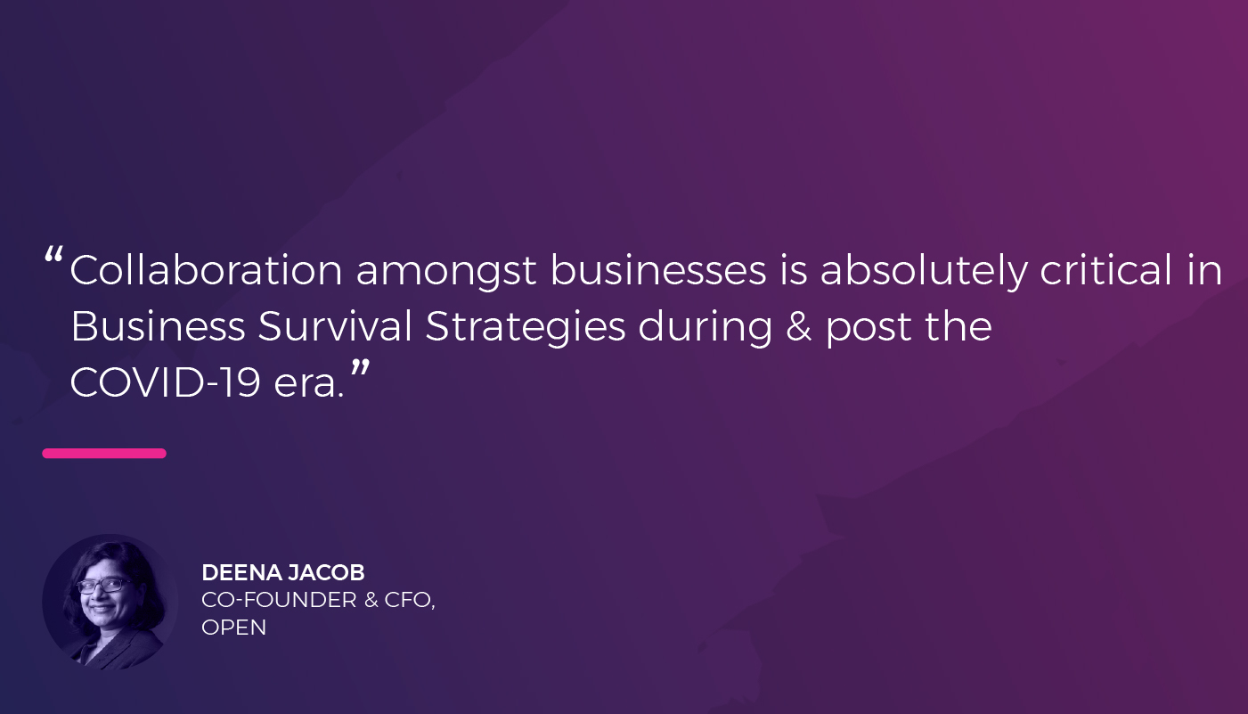 Deena Jacob - Co-founder & CFO - Open on how businesses can boost their runway beyond COVID-19