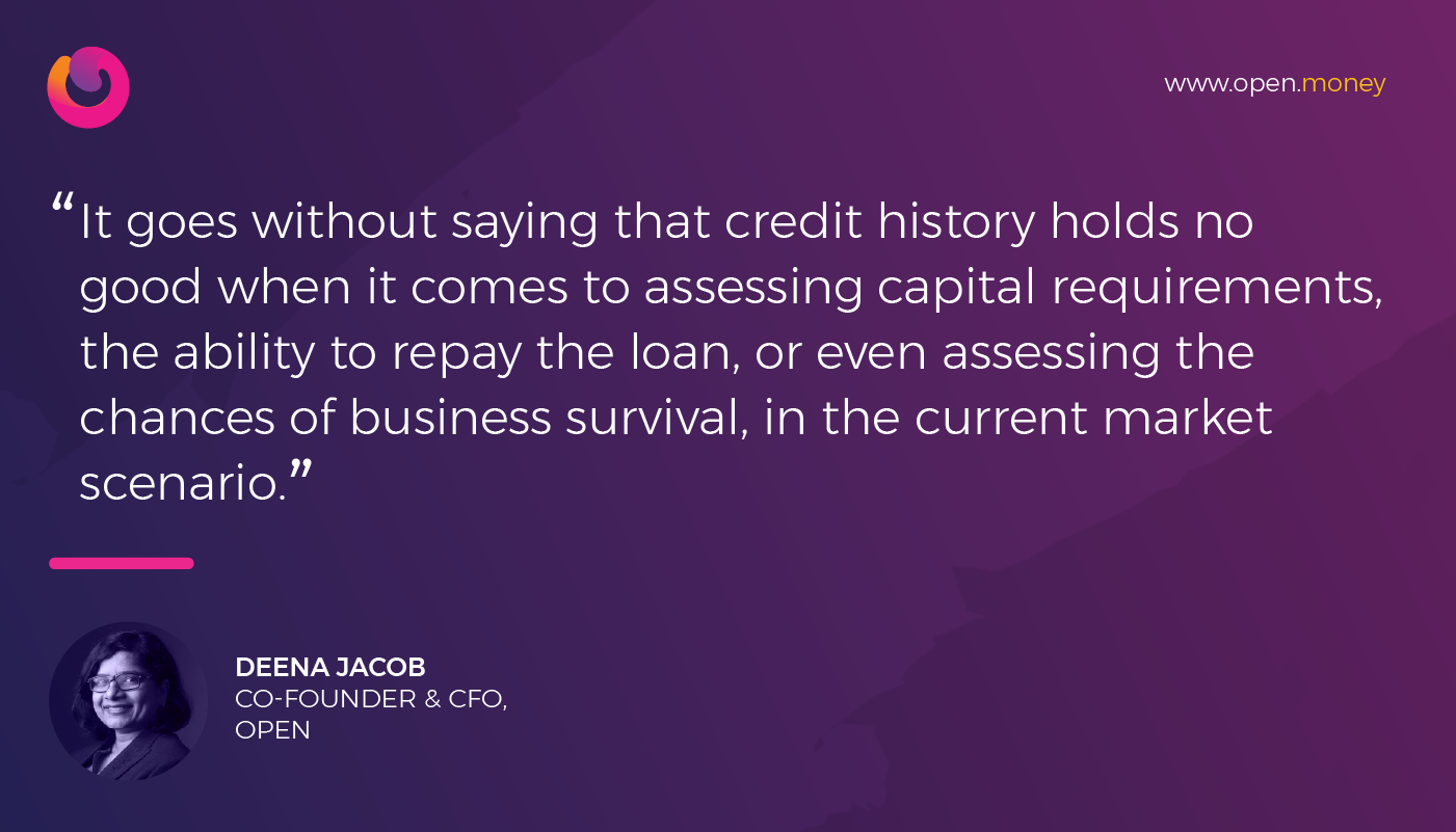 Reimagining credit decisioning in today's day and age by Deena Jacob, CFO, Open